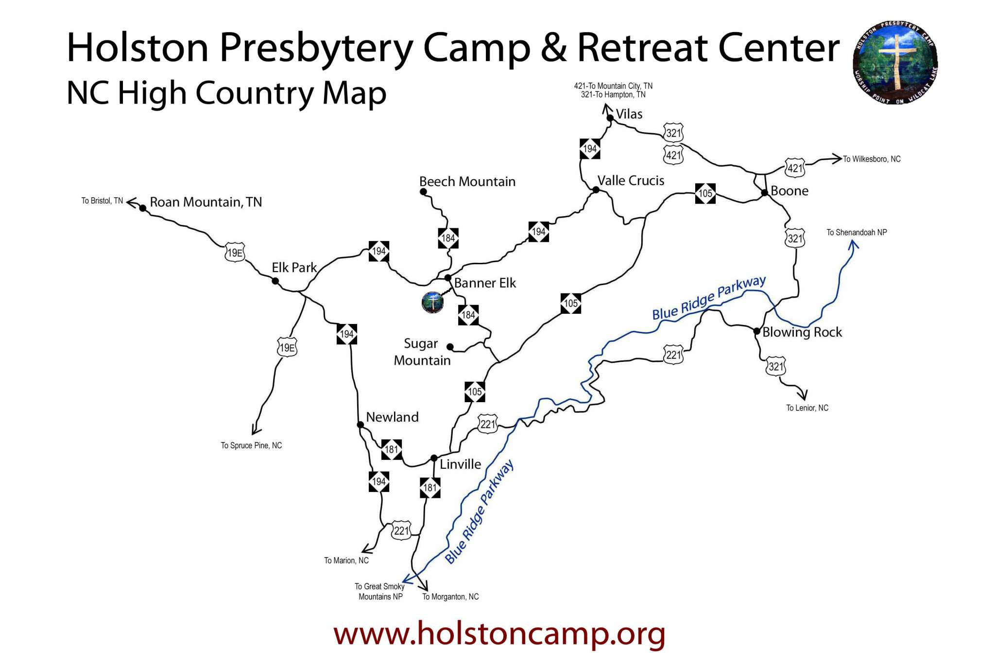 Holston Camp area map